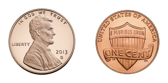 Um centavo de dólar